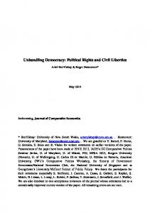 Unbundling Democracy: Political Rights and Civil Liberties