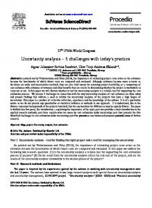 Uncertainty analysis 5 challenges with today's practice