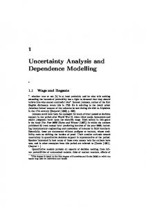 Uncertainty Analysis and Dependence Modelling