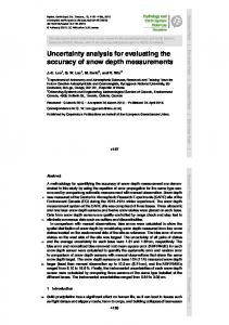 Uncertainty analysis for evaluating the accuracy of snow depth measurements