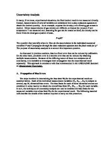 Uncertainty Analysis. P=pRT