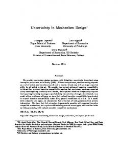 Uncertainty in Mechanism Design