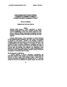 Uncertainty Management Theory*
