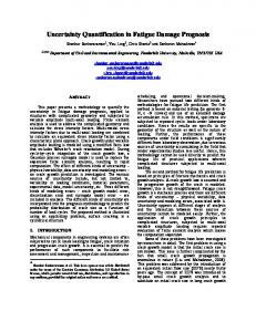 Uncertainty Quantification in Fatigue Damage Prognosis