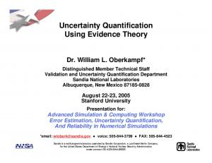 Uncertainty Quantification Using Evidence Theory