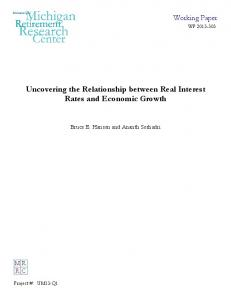 Uncovering the Relationship between Real Interest Rates and Economic Growth