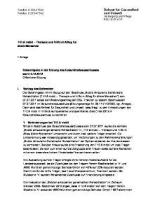 und Umwelt Versorgung und Pflege RGU-GVP-KVP