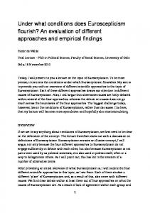 Under what conditions does Euroscepticism flourish? An evaluation of different approaches and empirical findings