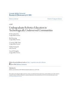 Undergraduate Robotics Education in Technologically Underserved Communities