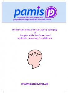 Understanding and Managing Epilepsy of People with Profound and Multiple Learning Disabilities