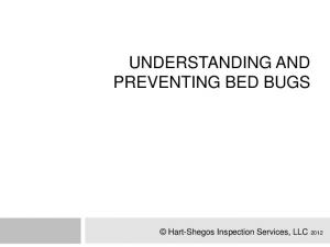 UNDERSTANDING AND PREVENTING BED BUGS