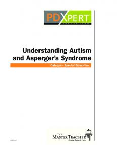 Understanding Autism and Asperger s Syndrome Category: Special Education0