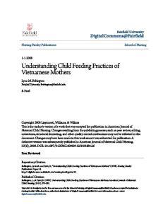 Understanding Child Feeding Practices of Vietnamese Mothers