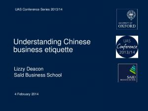 Understanding Chinese business etiquette