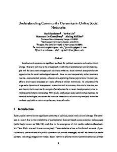 Understanding Community Dynamics in Online Social Networks