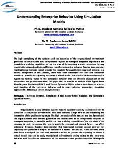 Understanding Enterprise Behavior Using Simulation Models