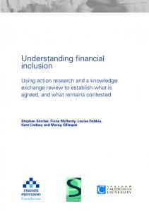 Understanding financial inclusion