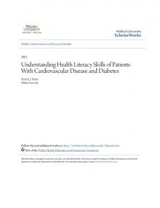 Understanding Health Literacy Skills of Patients With Cardiovascular Disease and Diabetes