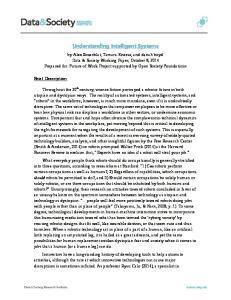 Understanding Intelligent Systems