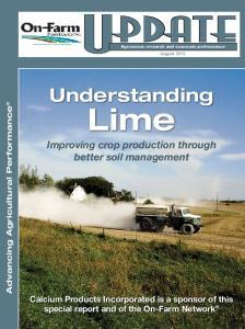 Understanding. Lime. Improving crop production through better soil management