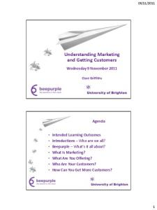 Understanding Marketing and Getting Customers