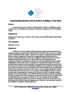 Understanding Medicare Part B Incident to Billing: A Fact Sheet