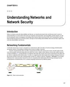 Understanding Networks and Network Security