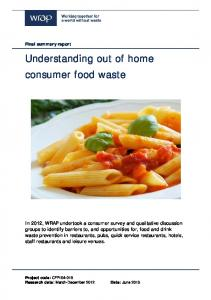 Understanding out of home consumer food waste