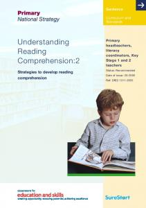 Understanding Reading Comprehension:2