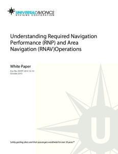 Understanding Required Navigation Performance (RNP) and Area Navigation (RNAV)Operations