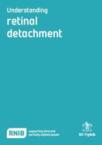 Understanding. retinal detachment. RCOphth