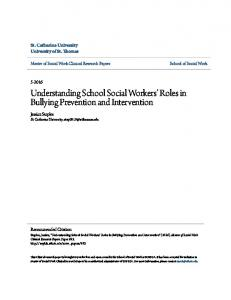 Understanding School Social Workers Roles in Bullying Prevention and Intervention