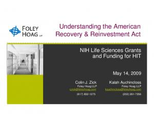 Understanding the American Recovery & Reinvestment Act