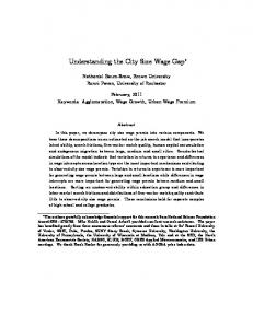 Understanding the City Size Wage Gap