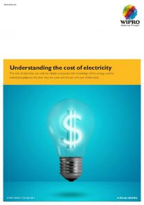 Understanding the cost of electricity