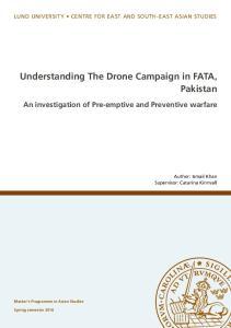 Understanding The Drone Campaign in FATA, Pakistan