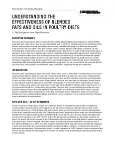 UNDERSTANDING THE EFFECTIVENESS OF BLENDED FATS AND OILS IN POULTRY DIETS