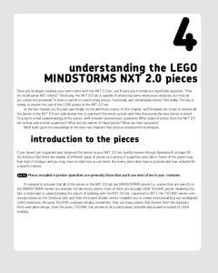 understanding the LEGO MINDSTORMS NXT 2.0 pieces