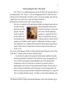 Understanding the Mass: The Gloria