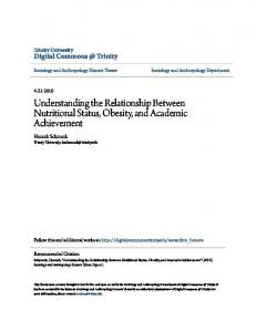 Understanding the Relationship Between Nutritional Status, Obesity, and Academic Achievement