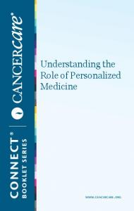Understanding the Role of Personalized Medicine