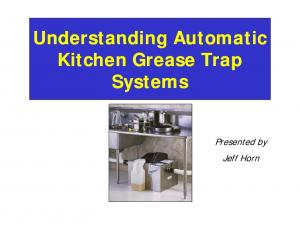 Understanding Understanding Automatic Automatic Automatic Kitchen Grease Trap Systems