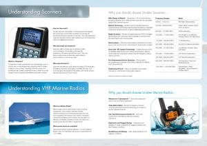 Understanding VHF Marine Radios Why you should choose Uniden Marine Radios