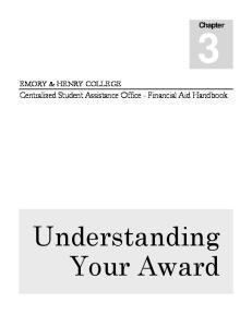 Understanding Your Award