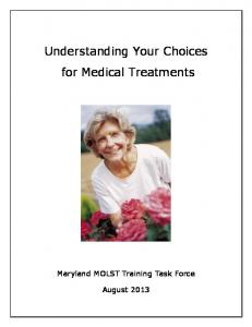 Understanding Your Choices for Medical Treatments