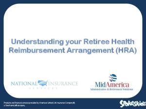 Understanding your Retiree Health Reimbursement Arrangement (HRA)