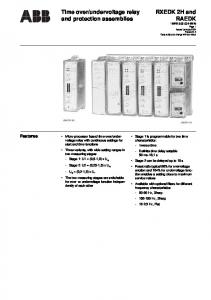 undervoltage relay and protection assemblies