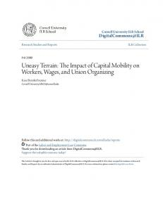 Uneasy Terrain: The Impact of Capital Mobility on Workers, Wages, and Union Organizing