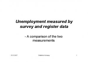 Unemployment measured by survey and register data