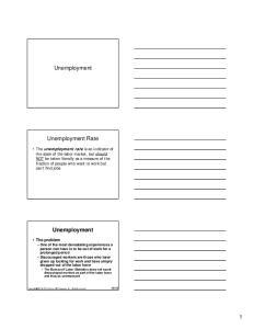 Unemployment. Unemployment Rate. Unemployment